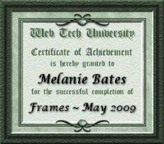 Certificate for HTML201-Frames