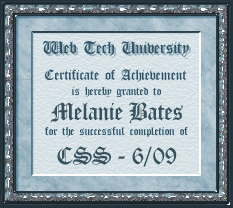 Certificate for CSS
