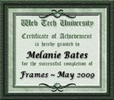 Certificate for HTML201-Frames